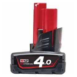 Batterie MILWAUKEE M12B4 Red Lithium M12™ 4Ah