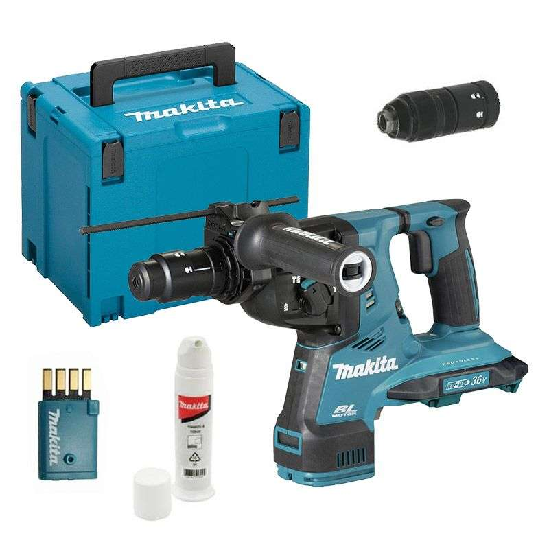 Perfo-burineur MAKITA DHR283ZJU SDS-Plus 36V (2x18V) Li-Ion 28mm (Machine Nue avec Coffret MakPac)