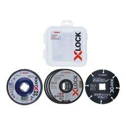 Coffret de disques et plateau à lamelles BOSCH Professional 2608619374 X-LOCK 125 mm Carbide Multi Wheel (5 pièces)