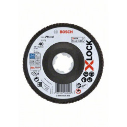 Plateau à lamelles BOSCH Professional X-LOCK X571 Best for Metal Ø 125 mm