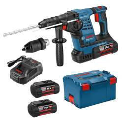 Perforateur BOSCH GBH 36 VF-LI Plus Professional (3 x 6,0 Ah) en L-Boxx