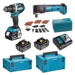 Pack 2 outils MAKITA DLX2235T3J (DDF484+DTM51) 18V (3x5Ah)