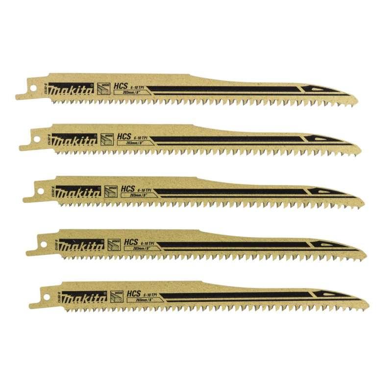 Lot de 5 Lames de scies sabres Super Express MAKITA B-05153 pour Bois