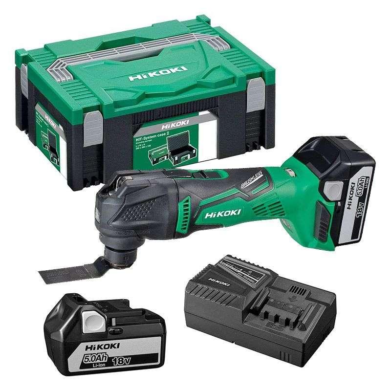 Outil multifonctions Hitachi CV18DBL 2 x 5Ah avec Hit Case