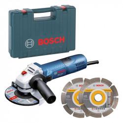 Meuleuse angulaire GWS 7-125 Bosch + 2 Disques Diamant 060138810A