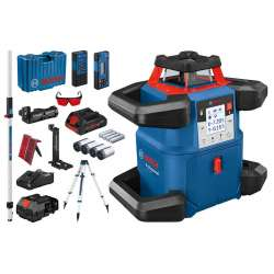 Laser rotatif BOSCH GRL 600 CHV Professional + MIRE GR 240 + TREPIED BT 170