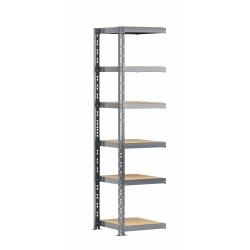 Extension étagère charge lourde MODULÖ STORAGE avec 6 plateaux de 50 cm de long (SYSTÈME EXTENSION)