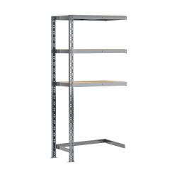 Extension étagère charge lourde MODULÖ STORAGE avec 3 plateaux de 70 cm de long (SYSTÈME EXTENSION)