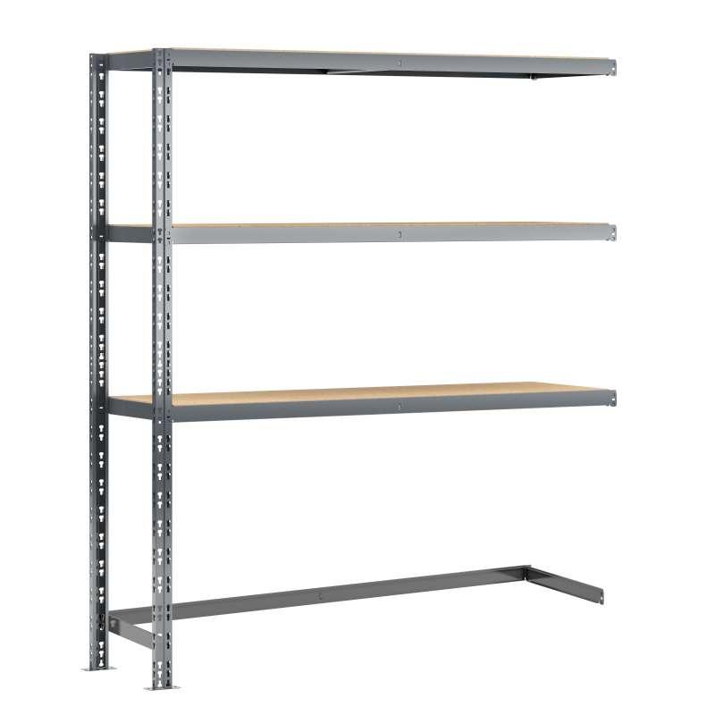 Extension étagère charge lourde MODULÖ STORAGE avec 3 plateaux de 150 cm de long (SYSTÈME EXTENSION)