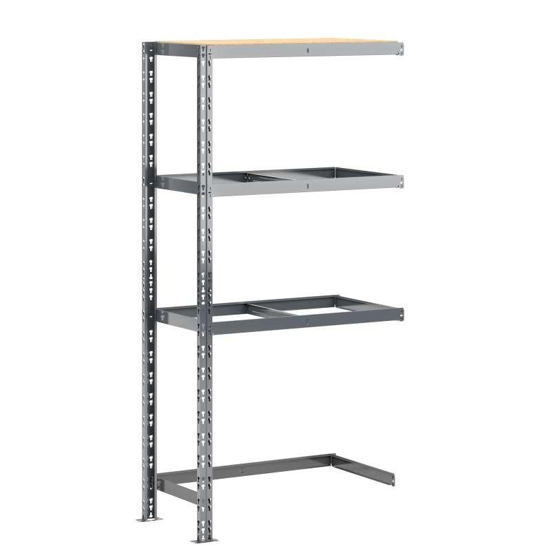 Extension étagère charge lourde MODULÖ STORAGE avec 1 plateau de 100 cm de long (SYSTÈME EXTENSION)