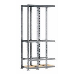 Extension étagère de rangement verticale 3 box MODULÖ STORAGE de 105 cm de long (SYSTÈME EXTENSION)
