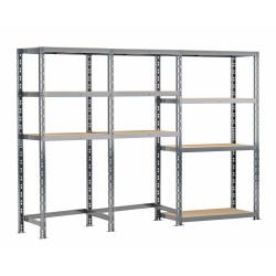 Concept rangement de garage MODULÖ STORAGE (SYSTEME EXTENSION) de 240 cm de long (3 étagères 10 plateaux)