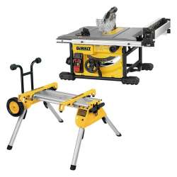 Scie sur table DEWALT DWE7485 Ø 210mm 1850W + Piétement à roulettes DEWALT DE7400