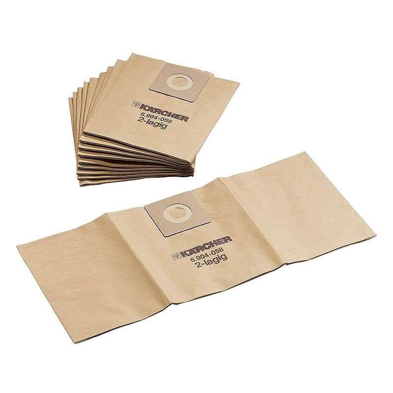 Lot de 5 sacs filtres papier 2 couches L KARCHER 6.904-259.0 pour NT 35/1