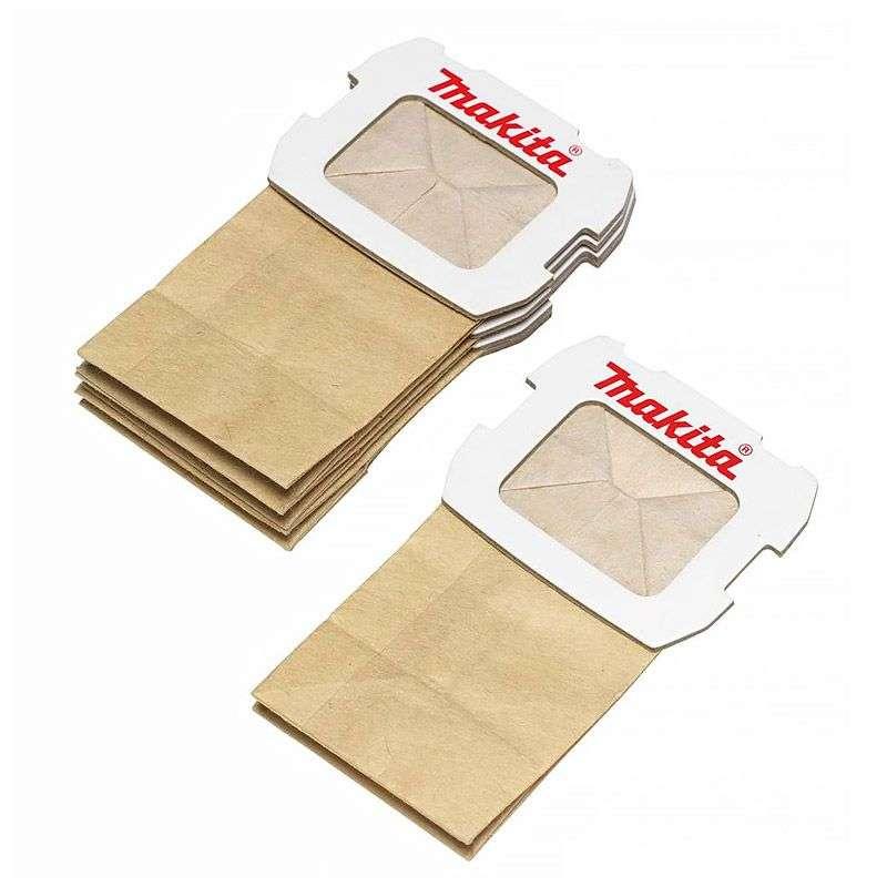 Lot de 5 sacs papier pour boite à poussière ponceuses Makita 194746-9