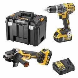 Pack 2 outils DEWALT DCK2080P2T (DCD796 + DCG405) XR 18V Li-Ion (2x5Ah)
