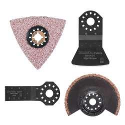 Ensemble 4 accessoires pour carrelage avec boite plastique MAKITA 196597-6
