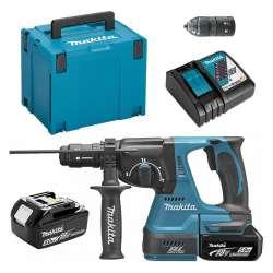 Marteau Perforateur MAKITA DHR243RTJ à Batteries LXT 18 V SDS-Plus (2 x 5 Ah)