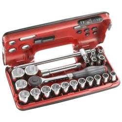 offret de clé à cliquet manche rotatif DBOX FACOM S.360DBOX4PB avec douilles 1/2' 6 pans (22 pièces)
