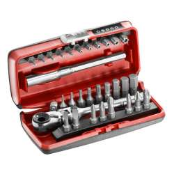 Coffret d'embouts de vissage 1/4'' avec clé à cliquet FACOM R.180J31PB (31 pièces)
