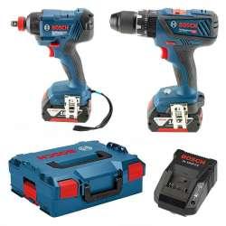 Pack 2 outils Bosch Professional 06019G5274 (GSB 18V-28 + GDX 18V-180) 18V (2x4Ah)