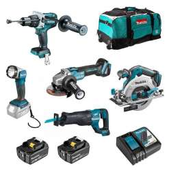Pack 5 outils MAKITA DLX5034T (2 x 5 Ah)