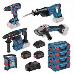 Pack 5 outils BOSCH Professional 0615990L52 18V (2x8Ah + 1x4Ah)