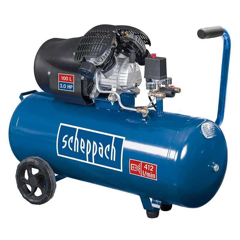 Compresseur à deux cylindres 100 litres SCHEPPACH HC120DC