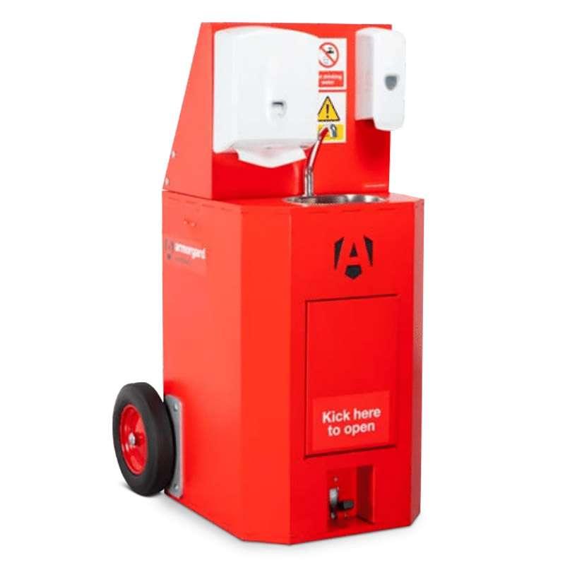 Solution mobile de lavage des mains à l'eau froide ARMORGARD ScrubKart SBK3T