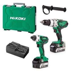 Pack 2 outils HIKOKI KC18DKL (DV18DSDL + WH18DGL) 18 V Li-Ion ( 2 x 5Ah)
