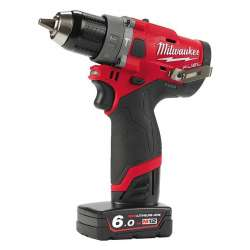 Perceuse à percussion MILWAUKEE M12FPD-602X Fuel 13mm 12V 6Ah