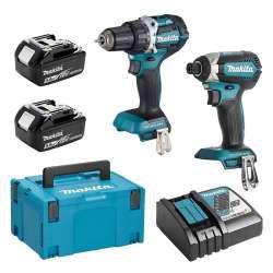 Pack 2 outils MAKITA DLX2189TJ (DTD153 + DDF484) 18 V Li-Ion (2 x 5,0 Ah)