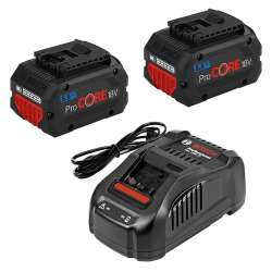 Pack 2 Batteries BOSCH ProCORE18V 5,5Ah Professional + Chargeur BOSCH GAL 1880 CV Professional