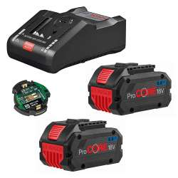 Pack 2 Batteries BOSCH ProCORE18V 8Ah Professional + Chargeur BOSCH GAL 18V-160 C Professional + GCY 42