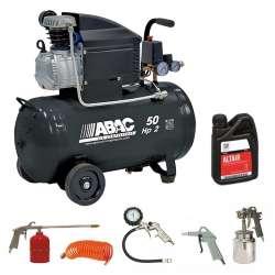 Pack ABAC Compresseur Montecarlo B20 BASELINE 7021 + kit 5 pièces + huile