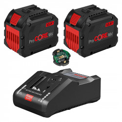 Pack 2 Batteries BOSCH ProCORE 18V 12Ah Professional + Chargeur BOSCH GAL 18V-160 C Professional + GCY 42