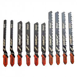 Coffret de lames de scie sabre WELLCUT WC-JB10 bois et métal