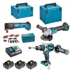 Pack 3 outils MAKITA 18 V ( 3 x 5Ah) DLX3094TJ1