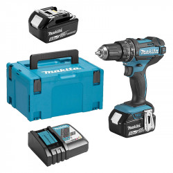 Perceuse visseuse à percussion MAKITA DHP482RTJ 18 V Li-Ion 5 Ah Ø 13 mm