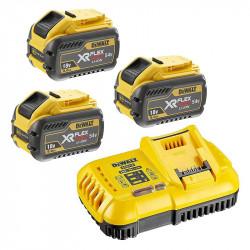 Pack DEWALT DCB118X3-QW Chargeur DCB118 avec 3 Batteries DCB547 9,0Ah