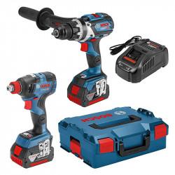 Pack BOSCH Professional GSB 18 V-85 + GDX 18 V-200