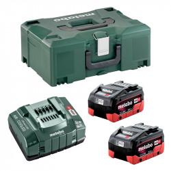 Pack Energie METABO 2 Batterie 8,0 Ah LiHD + Chargeur ASC 145 + Coffret metaBOX