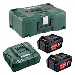 Pack Energie METABO 2 Batterie 4,0 Ah Li-Power + Chargeur ASC 55 + Coffret metaBOX