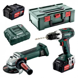 Pack 2 outils METABO 2.4.1 (BS 18 LT + W 18 LTX 125 QUICK) 18V (2 x 4,0 Ah)