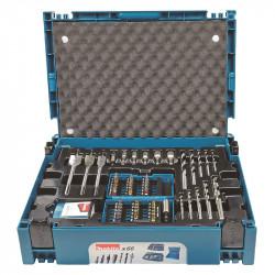Coffret ensemble accessoires MAKITA B-43044 66 pièces en coffret MakPac