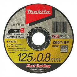 Disque à tronçonner MAKITA B-45733 Métal et Inox pour Meuleuse à Batterie (Plat)