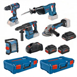 Pack 5 outils BOSCH 0615990m2x 18V (4,0Ah + 2 x 8,0Ah)