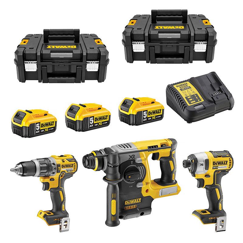 Pack 3 outils DEWALT DCK368P3T 18V Li-Ion (3 x 5,0 Ah)