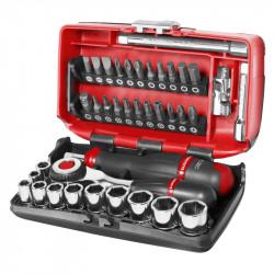"""Coffret de clé à cliquet manche rotatif avec douilles 1/4"""" FACOM R.360NANOPB 6 pans (38 pièces)"""