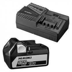 Pack HIKOKI UC18YFSLWAZ Batterie Li-Ion 18V 5,0 Ah + Chargeur